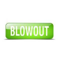 Blowout green square 3d realistic isolated web vector