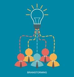 Brainstorm and teamwork vector