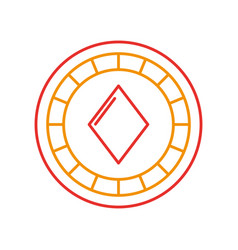 casino chips with diamond vector image