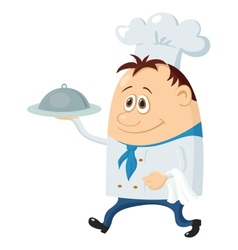 Cook with tray vector image vector image