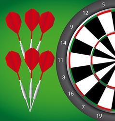Darts game vector