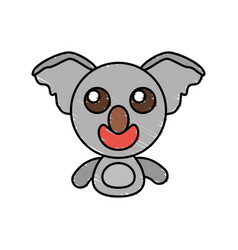 Draw koala animal comic vector