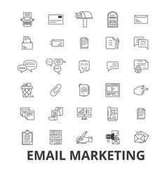 email marketing posting social media newsletter vector image