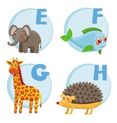 Funny cartoon alphabet vector