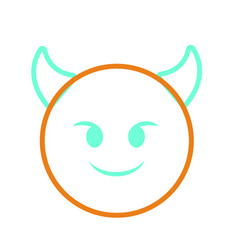 Isolated emoticon design vector