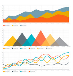 Line chart and triangle chart vector