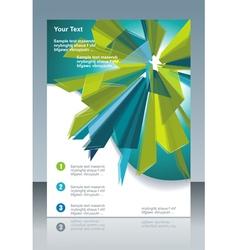 Modern poster template vector