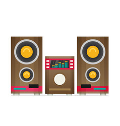 Music center flat vector