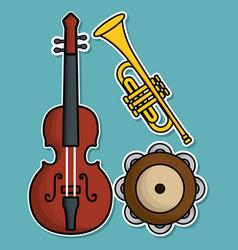 Musical instruments design vector