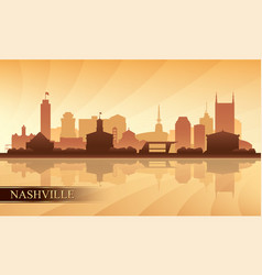 Nashville city skyline silhouette background vector