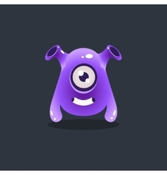 Purple Alien With Funnel Ears vector image