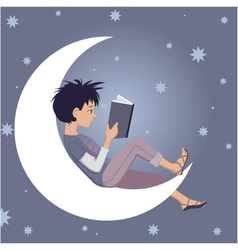 Reading child vector image vector image