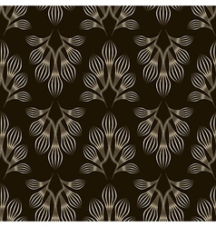 Seamless monochrome pattern graphic ornament vector image vector image