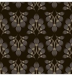 Seamless monochrome pattern graphic ornament vector image