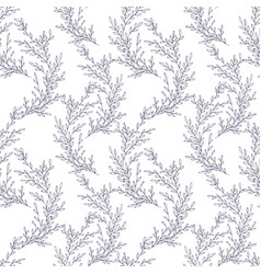seamless pattern made of hand drawn vector image vector image