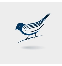 Stylized bird isolated on white background vector image