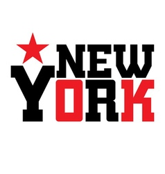 T shirt typography new york star vector