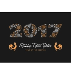 Trendy happy new year card 2017 numbers chinese vector
