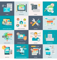 Website development concept icons vector