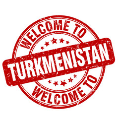 welcome to turkmenistan vector image vector image