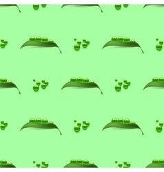 Fresh natural green peas seamless pattern vector