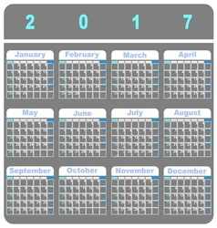 Cool demo 2017 calendar template vector