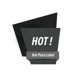Hot price label black color vector