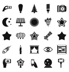 Spark icons set simple style vector