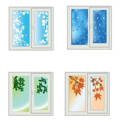 Window seasons vector