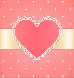 Invitation or greeting card with heart vector