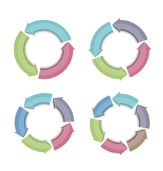 Circular arrows vector