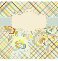 Vintage floral background eps 8 vector