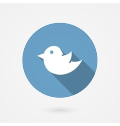 Twitter bird social media icon vector