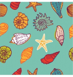 Shells seamless vector