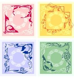 Corner Design - set vector image