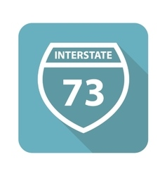 Square interstate 73 icon vector