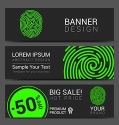 Id app icon fingerprint banner vector