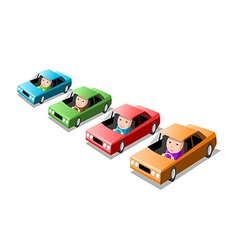 Four cars vector image