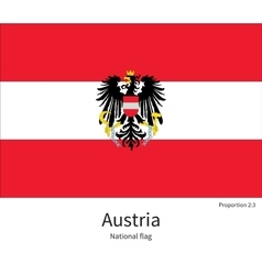 National flag of austria with correct proportions vector