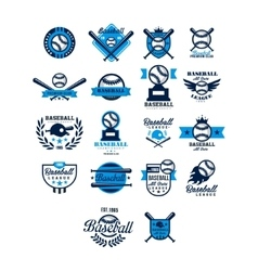 Set of baseball badge collection vector