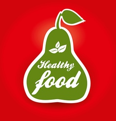 Healthy food pear vector