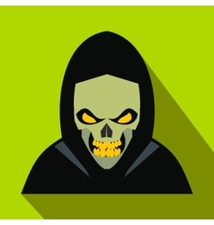 Skeleton flat icon with shadow vector