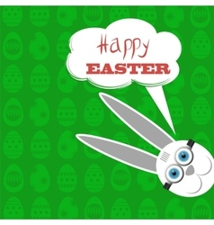 Easter bunny white rabbit vector