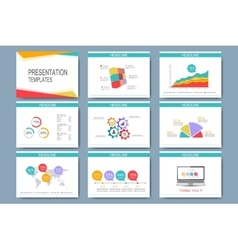 Colorful set of templates for multipurpose vector