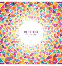 Abstract colorful triangle background with place vector