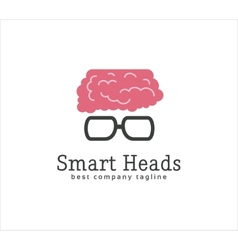 Abstract smart head with glasses logo icon concept vector image vector image