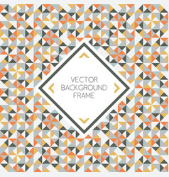 background of geometric triangle shapes pattern vector image vector image