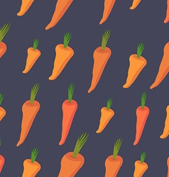Background of Orange carrots seamless pattern of vector image vector image