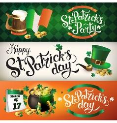 Banner St Patricks vector image