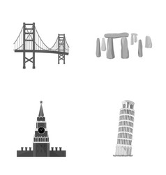 building landmark bridge stone countries vector image